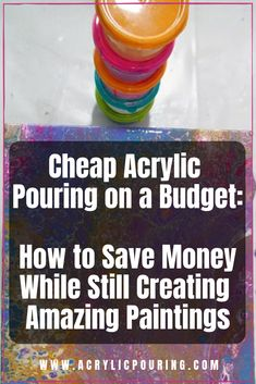 Acrylic Pouring on a Budget: How to Save Money While Still Creating Amazing Paintings Find out how to make a masterpiece on a budget in acrylic pouring. via out how to make a masterpiece on a budget in acrylic pouring. Acrylic Painting Tips, Pour Painting, Acrylic Art, Knife Painting, Acrylic Paintings, Painting Art, Acrylic Pouring Techniques, Acrylic Pouring Art, Painting Techniques