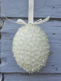 Remember the Christmas ornaments made of a Styrofoam ball, seiquins and beaded pins...this is made the same with Paper punch.