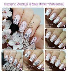 Pink Bow Nail Art Tutorial