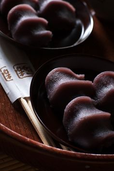 Akafuku - Japanese famous local sweets. Mochi with sweeten beans paste.