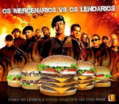 Cliente: Lifebox / Proposta: Montagem beseada no filme Os Mercenários 2, para a promoção LIFEBOX - CINEPRIME / Desenvolvimento: Igor Alves