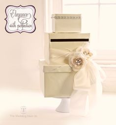 Wedding Reception Card Box Money Holder - Custom Made to Order ...