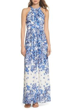 678161ad1 online shopping for Eliza J Floral Halter Neck Maxi Dress from top store.  See new offer for Eliza J Floral Halter Neck Maxi Dress