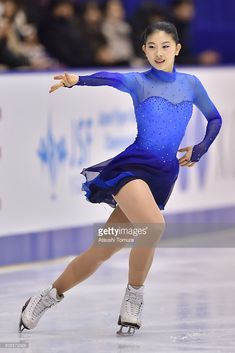 Yuka Nagai of Japan competes in the Ladies free skating during the day three of the 2015 Japan Figure Skating Championships at the Makomanai Ice Arena on December 27, 2015 in Sapporo, Japan.