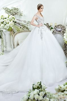 dar sara bridal 2016 wedding dresses beautiful thick embroidered strap bodice tulle ball gown