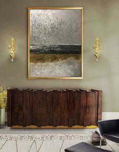 Abstract Oil Painting ,Abstract Painting,Oil Painting, Modern Art,Gold Panting Large Wall Art by Julia Kotenko by juliakotenko on Etsy