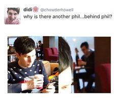 Phil from the Future watching his past dates with Dan