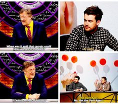 QI, Carrots, Jack Whitehall British Humor, British Comedy, Stephen Fry Qi, Funny Laugh, Funny Times, Jack Whitehall, Are You Not Entertained, Dream Guy, Funny Photos