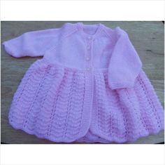Hand knitted pink baby cardigan 3 - 6 months on eBid United Kingdom