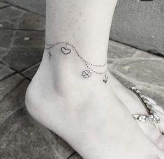 Tattoos tornozeleira