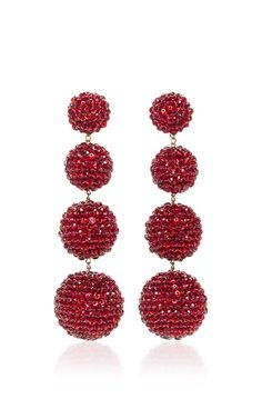 M'O Exclusive Classic Ruby Slippers Earrings by REBECCA DE RAVENEL Now Available on Moda Operandi
