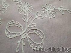 8 pc Vintage Tambour Lace on Pink Bridal Blush Linens Tea Set Placemats &Napkins www.Vintageblessings.com