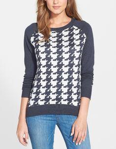 Classic houndstooth print | NYDJ sweater.