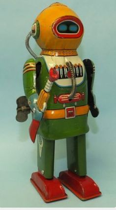 Mid Century Robot Maker /Year Unknown It could be earlier the Colours Are More 30s 40s.