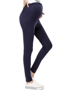 bc5bdf950d4b7 Simplicity Women Cotton Knit Maternity Stretch Leggings for Pregnant,  3025_Burgundy at Amazon Women's Clothing store: