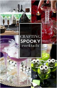 Tips and tricks for crafting the spookiest Halloween cocktails from rimming the edges to working with dry ice!