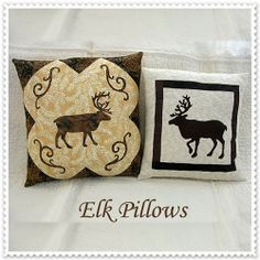 Elk Pillows - Quilting by the River