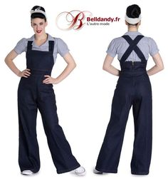 Salopette Combinaison Jeans Rockabilly Pin-Up 50s Emmeline  http://www.belldandy.fr/salopette-combinaison-jeans-rockabilly-pin-up-50-s-emmeline.html https://www.facebook.com/belldandy.fr/photos/a.338099729399.185032.327001919399/10154205178149400/?type=3
