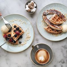 Bored hungry and dreaming of waffles.  Also missing my sis (who I ate these with ) who keeps sending me photos of South America whilst my brain slowly turns numb in the library.  Sorry if I'm posting too much but this is what revision does to me.   #wtfoodies #eeeeeats #forkfeed by georginatwong