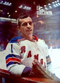 Ed Giacomin - NY Rangers Hockey Shot, Women's Hockey, Hockey Stuff, Nhl, Rangers Hockey, Goalie Mask, Different Sports, Vancouver Canucks, Ny Yankees