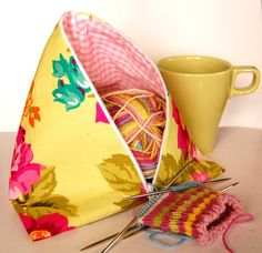 TeePee Bag (also called Fortune Cookie) with link to the tutorial