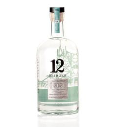 I am obsessed with gin right now....12 Bridges Gin package design