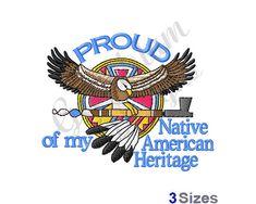 Native American Heritage Machine Embroidery Design