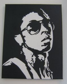 11 inch by 14 inch Lil Wayne Painting by DecorativeArtByDre, $80.00