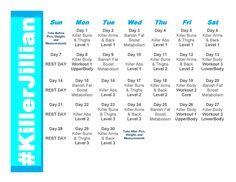 jillian calendar