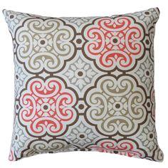 Nyle Medallion Cotton Throw Pillow
