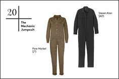 20. The Mechanic Jumpsuit If rag & bone and Steven Alan's shows were any indication, the person that fixes your car couldn't be more on-trend. So, take a cue and jumpstart your winter dressing routine with a mechanic-esque jumpsuit in a tough material. Pair yours with stilettos or booties to keep your look on the softer side.