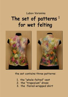 The set of patterns for wet felting 1
