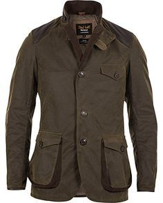 Barbour for Land Rover Boneyard Wax Jacket Olive i gruppen Jackor hos Care of Carl (12019611r)