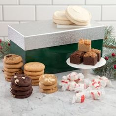 Mrs. Fields - Green Shine on Holiday Box