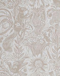 Squirrel & Sunflower, Green Sedge – The Pattern Collective Toile Wallpaper, Print Wallpaper, Room Wallpaper, Colorful Wallpaper, Pattern Wallpaper, Wallpaper In Kitchen, Wallpaper Ideas, Small Room Design, Family Room Design