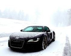Audi R8 in the snow