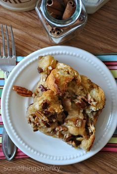 pecan pie bread pudding ... what?!  YUM!!