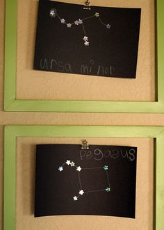 I have foil stars... This will be a super easy way to teach the constellations!