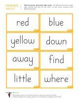 Free kindergarten worksheets with 8 Dolch sight words to a page. Cut them apart to make free Dolch Sight Word flashcards for children. Also has sentence strips that incorporate Dolch sight words. Pre Primer Sight Words, Sight Words List, Dolch Sight Words, Sight Word Practice, Free Kindergarten Worksheets, Kindergarten Reading, Teaching Reading, Free Worksheets, Free Reading