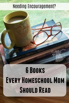 A homeschool mom's reading list. Read these 6 books for wisdom and encouragement from several veteran homeschool moms. Sally Clarkson, New School Year, Little Books, Reading Lists, Homeschooling, Helpful Hints, My Books, Encouragement, Parenting