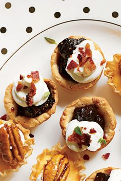 New Year's Eve Appetizers: Bacon-Fig Tassies