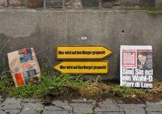Streetart von Barbara : Hier wird auf den B*rger gespuckt | Atomlabor Wuppertal Blog