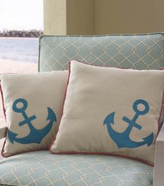 #DIY pillows with a nautical theme. |Find supplies at Joann.com or Jo-Ann Fabric and craft stores.