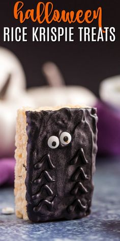 Spooky Halloween Spider Rice Krispie Treats are the perfect party idea. This recipe is so easy, even the kids can make them!