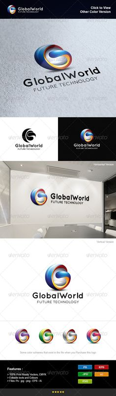 Global World - Logo Design Template Vector #logotype Download it here: http://graphicriver.net/item/global-world/8275825?s_rank=86?ref=nexion