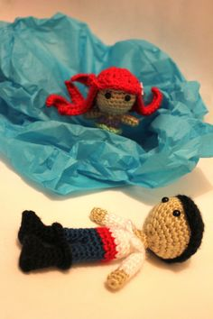 Ariel and Eric - Inspiration ONLY! No Pattern! The finished product is for sale at an outrageous price.