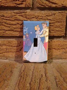 Cinderella and Prince Light Switch Cover Cinderella Nursery Cinderella Decoration Cinderella Decor Cinderella Prince Cinderella Mice (6.00 USD) by Hippiemysticstudio