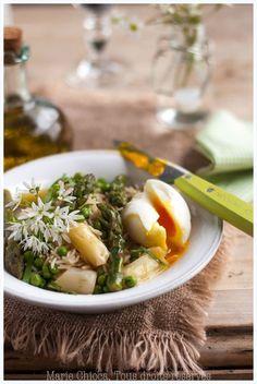 Salade de riz tiède aux légumes primeurs et ail des ours - Saines gourmandises...par marie Chioca