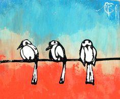 Trois Graisse Oiseaux #aaa #arts #artists #artwork 11x14x2″ Chopstick oil drip on wood panel http://www.buchanart.com