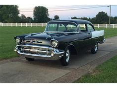 "1957 Chevrolet 150 Listed by Barrett Jackson   This re-creation has undergone a full frame-off, nut-and-bolt, rotisserie restoration. Black Widow ""Fuelies"" were built for NASCAR racing. This 5-year...  ClassicCars.com"